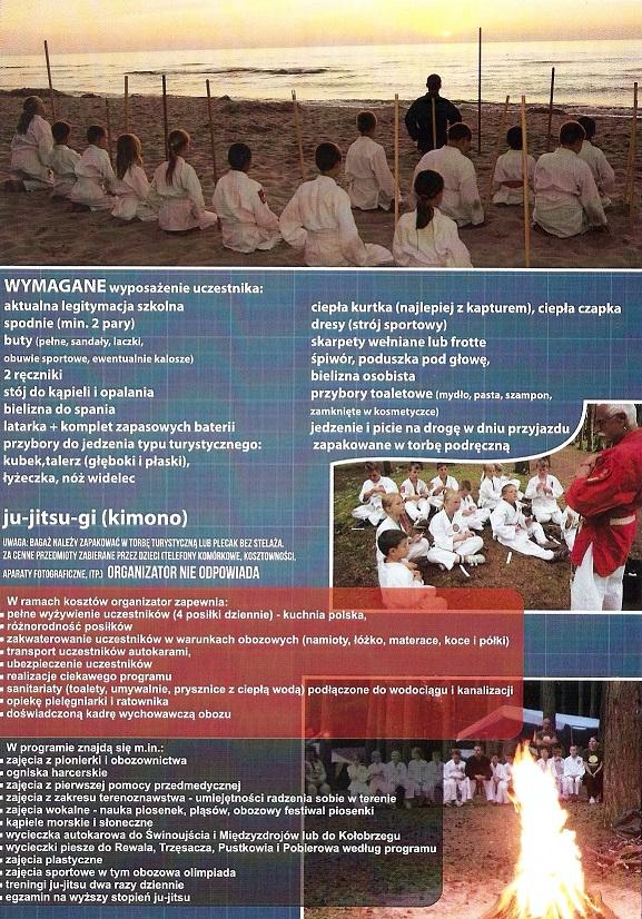 Obóz Ju Jitsu w Pobierowie
